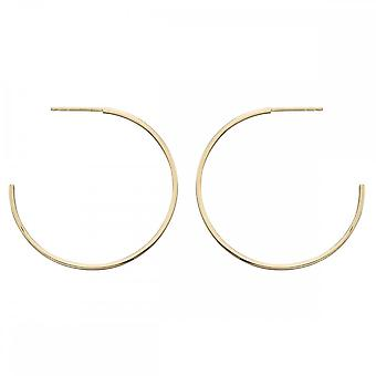 Elements Gold Yellow Gold 40mm Hoop Earrings GE2204