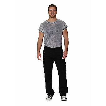 Men's cargo trousers - black