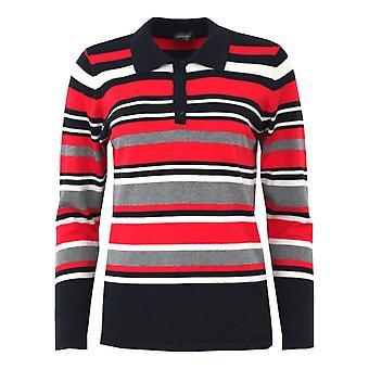 LEBEK Lebek Red Of Navy Sweater 2025