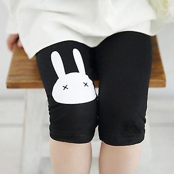 Girls Summer Leggings Rabbit Kids Knee Pants Leggins Elastic Modal Cotton Candy Color Children Leginsy