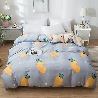 dual-sided Duvet Cover  soft Comfortable Cotton Printing Comforter -textiles Quilt Cover set 4