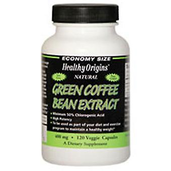 Healthy Origins Green Coffee Bean Extract, 400 MG, 120 Veg Caps