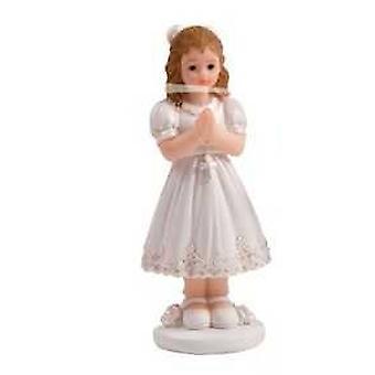 Communion Cake Figure Girl 10 cm Confirmation Decoration