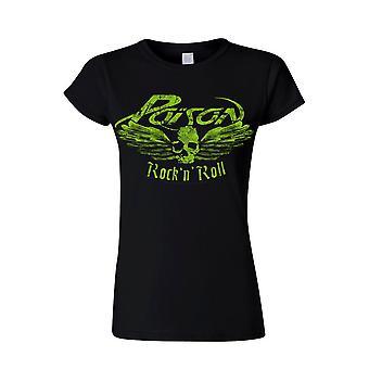 Poison Flying Skull (lady) T-Shirt, Women