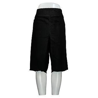 DG2 by Diane Gilman Women's Plus Shorts Black Jean w/Back Pockets 724-452