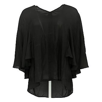 Lisa Rinna Collection Women's Top Draped Sleeve Black A353884