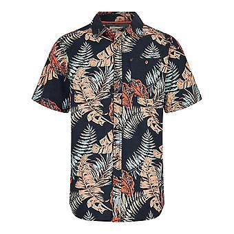Dashbeck kortärmad Hawaii print skjorta