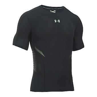 Under Armour HeatGear Armour Zone Mens Compression Baselayer Shirt Black