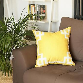 Geometric Design Square Throw Pillow Cover