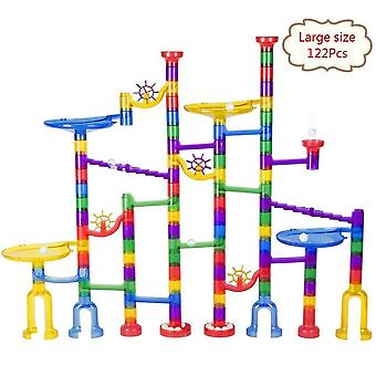 Set Of 122pc Large Size Marble Race Run Track -building Blocks
