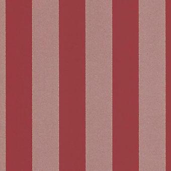 Glitter Stripe Erismann Wallpaper Red Silver Gold