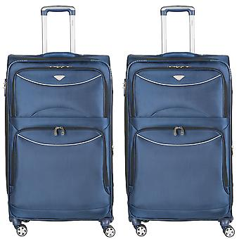 Polyester soft case cabin suitcases hold luggage delta maximum easyjet approved