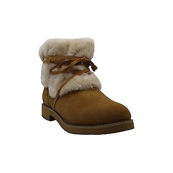 Style & Co. Women's Shoes Zijune Leather Closed Toe Ankle Cold Weather Boots