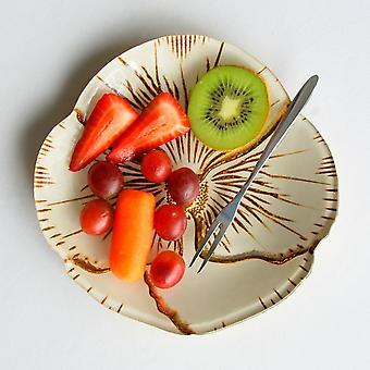 Krem Gull Forgylt Glass Canapé Plate
