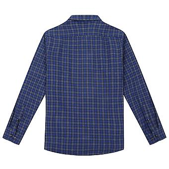 YANGFAN Men's Thicken Brushed Shirt Long-Sleeve Plaid Top