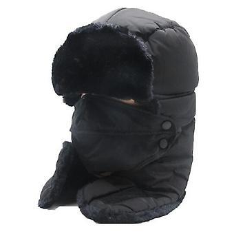 Talven lämmin tuulenpitävä naamio huivihatulla pyöräilyn lumilautailuun