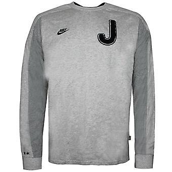 Nike Juventus Pitkähihainen Top Jalkapallo T-paita Harmaa 200546 050
