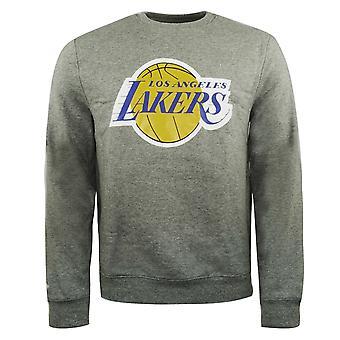 Mitchell & Ness Team Logo Crew Sweatshirt LA Lakers Jumper Grey