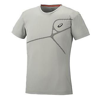 Asics Elite Herren T-Shirt Training Gym Running Top Stone 129863 0778