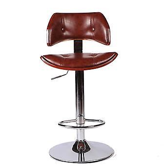 Schwenkbare Bar Hocker Stuhl In Kunstleder Chrom Finish verstellbare Höhe