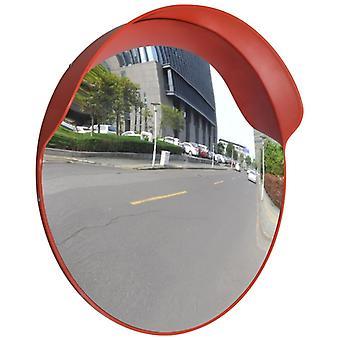 حركة المرور مرآة محدبة PC بلاستيك برتقالي 60 سم في الهواء الطلق