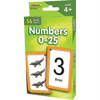 Numéros 0-25 Cartes Flash Ep-62045