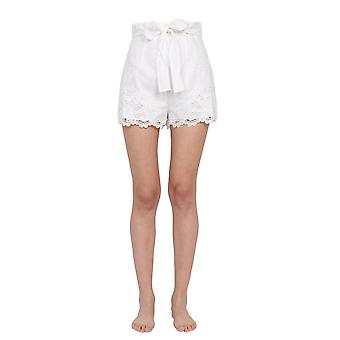 Zimmermann 9958alluivo Women's White Cotton Shorts
