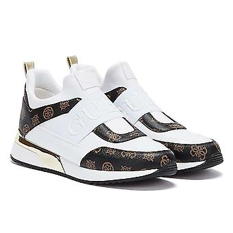GUESS Maygin Womens White / Brown Trainers