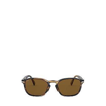 Persol PO3234S striped brown & grey male sunglasses