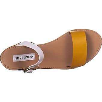 Steve Madden Womens DONDDI couro aberto Toe Slide Casual sandálias