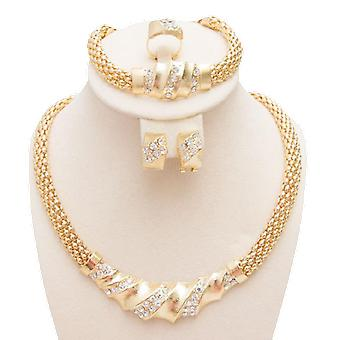 Gold Color Charming Mireasa Moda Colier Jewlery Set