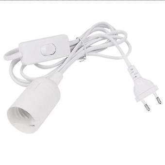 1.8m câble de cordon d'alimentation, base de lampe E14 et bouchon eu avec commutateur pour pendentif conduit