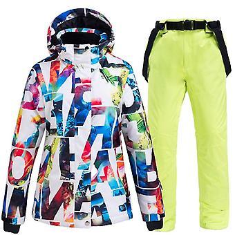 Waterproof Thickened Warm Snowboard Pants + Jacket Set