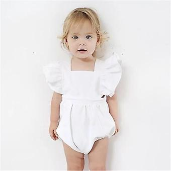 Princess Baby Solid White Romper
