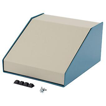 Hammond 1456FG4WHBU Sloped Enclosure 189x165x107mm Aluminium Blue/Beige