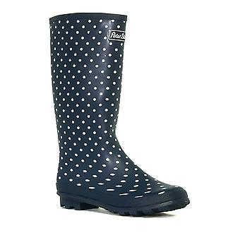 New Peter Storm Women's Trim Wellies Medium Footwear Blue