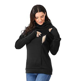 Women's Pregnant Nursing Maternity Long Sleeves Hooded Breastfeeding