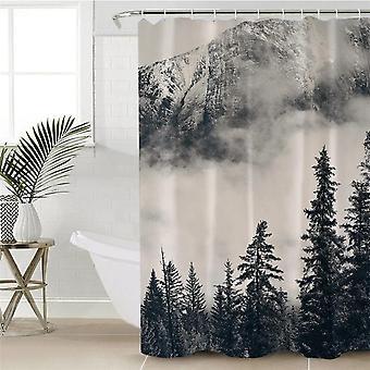 Sumuiset vuoret ja metsäsuihkuverho