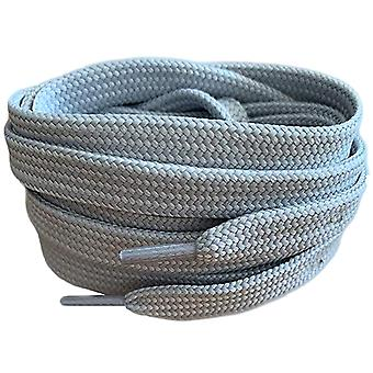 Silver Grey Flat Trainer Shoelaces Laces