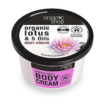 Organic Lotus and 5 Oils Body Cream 250 ml of cream