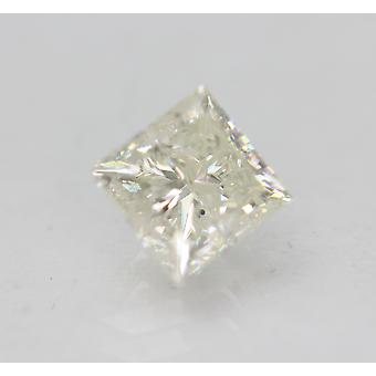 Sertifioitu 0,96 karat H VS2 Princess Enhanced Natural Loose Diamond 5.1x4.99m 2EX