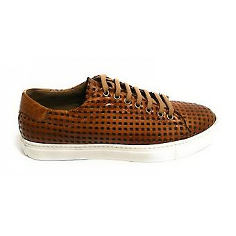 Men's Shoes Sneaker Yox By Nicola Barbato In Lasered Leather Dived Col. Leather Us18nb06