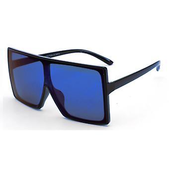 Solglasögon Män och Solglasögon Women Square - Svartblå med speglad Glazen7229_5