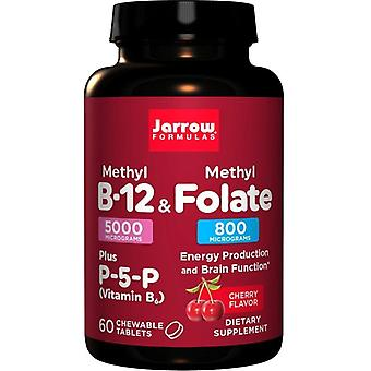 Jarrow Formulas Methyl B12 & Methyl Folate 800mcg Cherry Lozenges 60