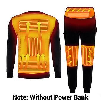 Winter Heated Underwear Usb Fleece Lined Heating Motorcycle Jacket