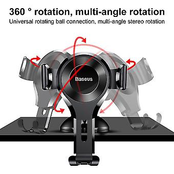 Baseus Universal 360 Degree Rotation Osculum Type Gravity Car Mount Phone Holder, pour iPhone, Galaxy, Sony, Lenovo, HTC, Huawei et autres