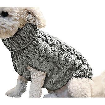 Inverno Quente Cão e Suéter de Gato Roupa de Malha De Malha Animal de Estimação / Roupas de Cachorro