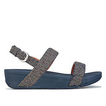 Women's Fit Flop Lottie Glitter Stripe Back Strap Sandals in Blue