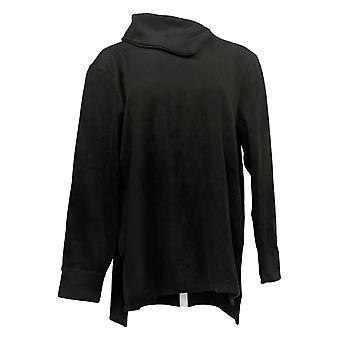 Cuddl Duds Women's Top Fleecewear Pullover Tunic Black A381712