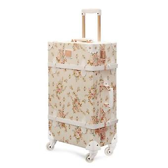 Women Travel Luggage, Retro Spinner Suitcase, Floral Koffers Trolleys For Trip